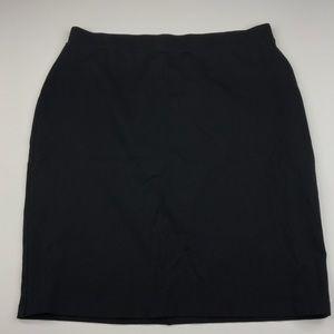 Liz Claiborne Career Wear Black Pencil Skirt XL